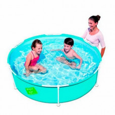 Bestway круглый каркасный бассейн с навесом и душем 244 х 51 см
