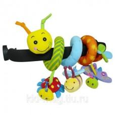 BIBA TOYS Развивающая игрушка спираль ГУСЕНИЦА И ДРУЗЬЯ
