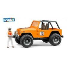 Внедорожник Cross Country Racer оранжевый с гонщиком
