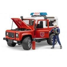 Bruder Land Rover Defender Station Wagon Пожарная с фигуркой