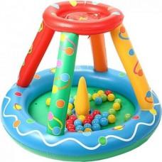 Upright Сухой надувной бассейн Игровой центр+50 шаров
