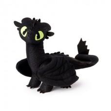 """Мягкая игрушка дракон Делюкс Беззубик (Ночная фурия), 35 см """"Как приручить дракона"""" Дрэгонс (Dragons)"""