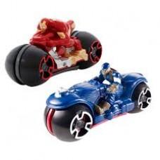 Hot Wheels Мотоцикл с гонщиком из фильма Мстители в ассортименте