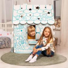 Картонный домик-раскраска Хоммик