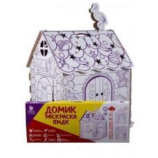 """Картонный домик раскраска для детей """"Алфавит + Русские сказки"""" ПМДК"""