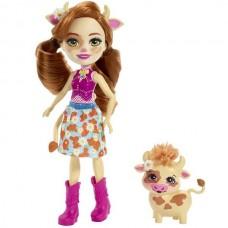 Enchantimals Кукла с питомцем Коровка Кейли FXM77
