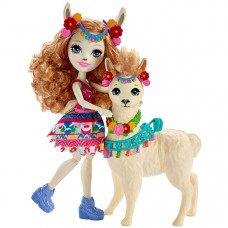 Enchantimals Кукла Луэлла Лама с питомцем Флиси FRH42
