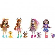 Enchantimals Друзья в Солнечной Саванне набор из четырех кукол с питомцами GYN57