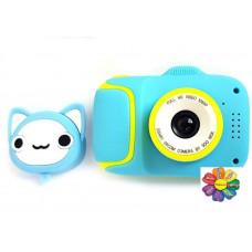 Детский цифровой мини фотоаппарат Cartoon Camera X11 Котик Kitty 40M