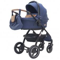 """Детская коляска 2 в 1 Rant """"Alaska"""" (blue jeans), всесезонная коляска зима-лето 00-89911"""