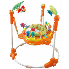 Игровой центр-прыгунки Amazon Friends 2 круглая база, orange, Konig Kids
