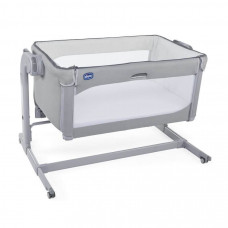 Кроватка-манеж Next2Me Magic Cool Grey 0м+ Chicco