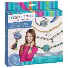 """Make it real 1301 Набор для создания браслетов и ожерелья """"Сверкающий"""""""