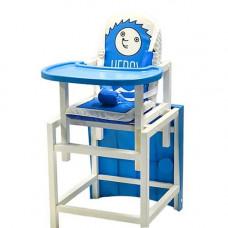 """Стол-стул для кормления Barty """"BABYS"""", (синий HEDGY),  ежик 00-49894"""