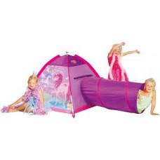 FS 427-16 Детская палатка «Волшебный единорог» с туннелем, розовая, 195х112х94см, от 2х лет