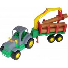 Трактор Алтай с полуприцепом-лесовозом 60см