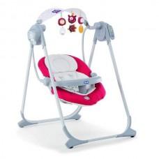 Детское кресло-качели Polly Swing Up Paprika красное, Chicco