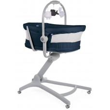 Кроватка-стульчик Baby Hug Air 4-в-1 India Ink Chicco