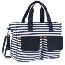 Дорожная сумка для мамы в полоску син/бел, Chicco