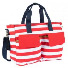 Дорожная сумка для мамы в полоску красн/бел, Chicco