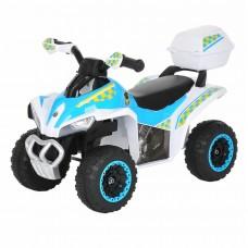 Каталка квадроцикл с багажником Pituso White/ Белый-голубой