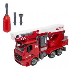 Пожарная машина с подъёмником Wincars с звуковыми и световыми эффектами