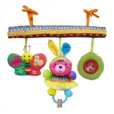 BIBA TOYS Развивающая игрушка подвесная на кроватку СЧАСТЛИВЫЕ ЖИВОТНЫЕ 42*32*41 см  HA907